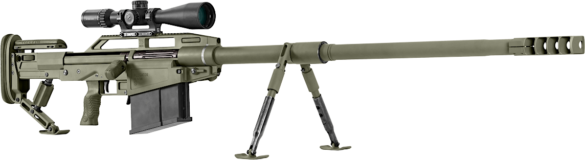 Single-shot long-range large-caliber rifle 12.7×108 mm caliber